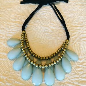 Cute plastic and metal necklace